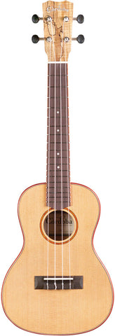 Cordoba 24C Solid Cedar Top Spalted Maple Concert Ukulele