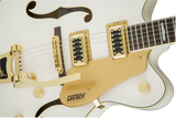 Gretsch G5422TG Electromatic® Hollow Body Double-Cut with Bigsby® and Gold Hardware Rosewood Fingerboard Snowcrest White