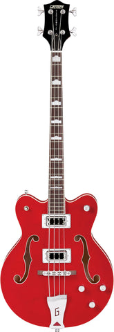 "Gretsch G5442BDC Electromatic® Hollow Body 30.3"" Short Scale Bass Rosewood Fingerboard Transparent Red"