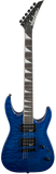 Jackson JS32TQ Dinky™ Arch Top Rosewood Fingerboard Quilted Maple Transparent Blue