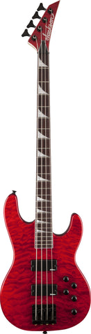 Jackson JS3QM Concert™ Bass Rosewood Fingerboard Quilted Maple Transparent Red