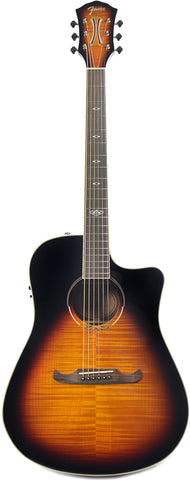 Fender T-Bucket 300CE™ Rosewood Fingerboard Flame Maple 3-Tone Sunburst v3