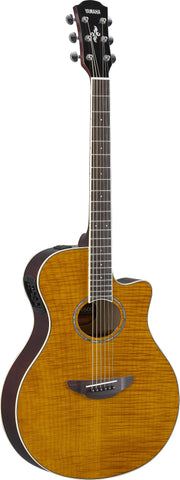 Yamaha APX600FM Flamed Maple Top Amber