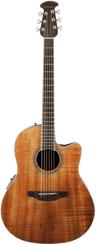 Ovation Celebrity® Plus Mid-Depth Figured Koa