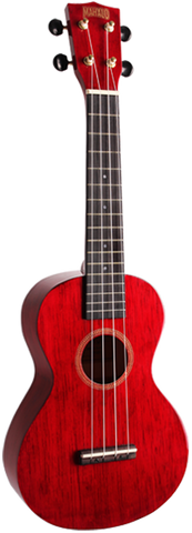 Mahalo MH2TWR Hano Series Transparent Red Concert Ukulele