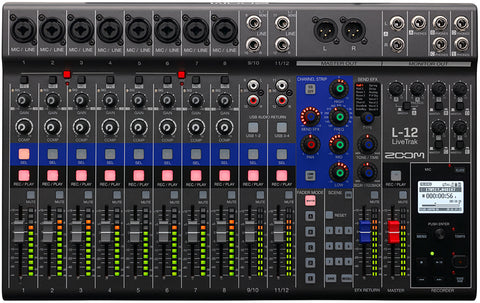 Zoom LiveTrak L-12 Digital Mixer + Recorder