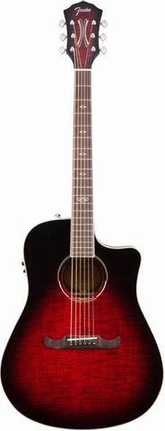 Fender T-Bucket 300CE™ Rosewood Fingerboard Flame Maple Trans Cherry Burst