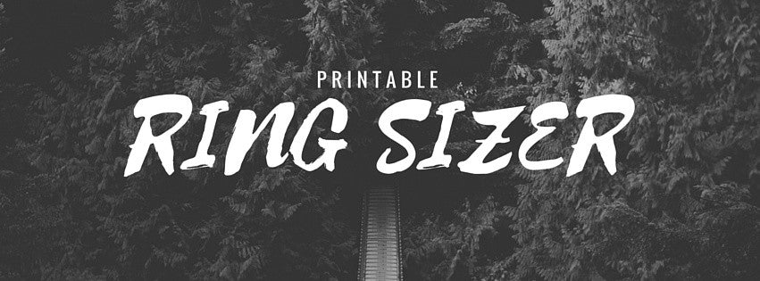 Printable Ring Sizer Tool - Find Your Ring Size Easily