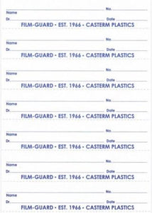 Name Tag Packs for Casterm - FILM-GUARD™ X-Ray Mounts