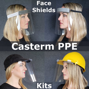 Casterm Plastics PPE Face Shields and Hat Face Shield Kits