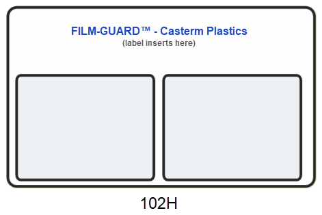102H clear vinyl X-Ray mount - FILM-GUARD™ from CastermPlastics.com
