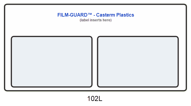 102L clear vinyl X-Ray mount - FILM-GUARD™ from CastermPlastics.com