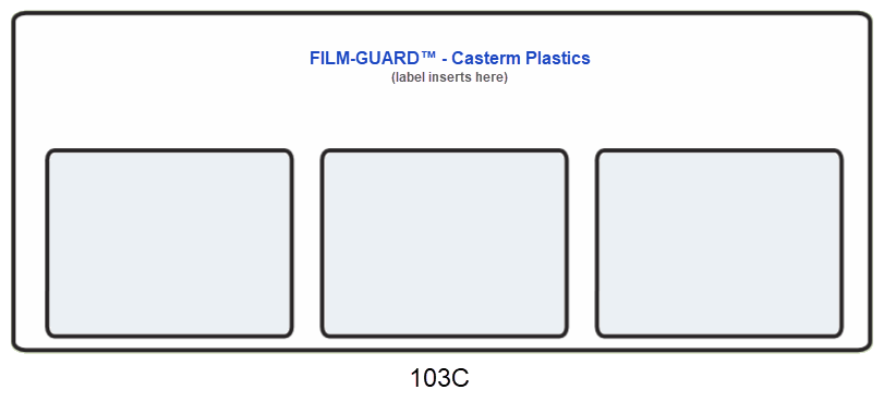 103C clear vinyl X-Ray mount - FILM-GUARD™ from CastermPlastics.com