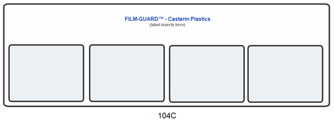 104C clear vinyl X-Ray mount - FILM-GUARD™ from CastermPlastics.com