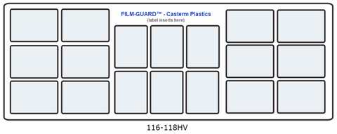 116-118HV clear vinyl X-Ray mount - FILM-GUARD™ from CastermPlastics.com