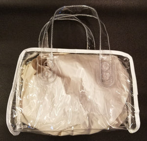 "IMEX Clear Bag with Zipper Closure and Handles 10""W x 6""H x 5""D"