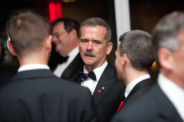 Commander Chris Hadfield talking to Spivo founder Marc