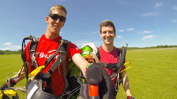 Smiles from Ear to Ear after Successful Skydive