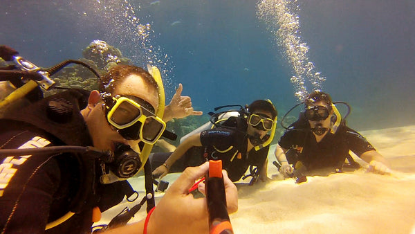 Scuba Diving With Spivo And GoPro Selfie Stick