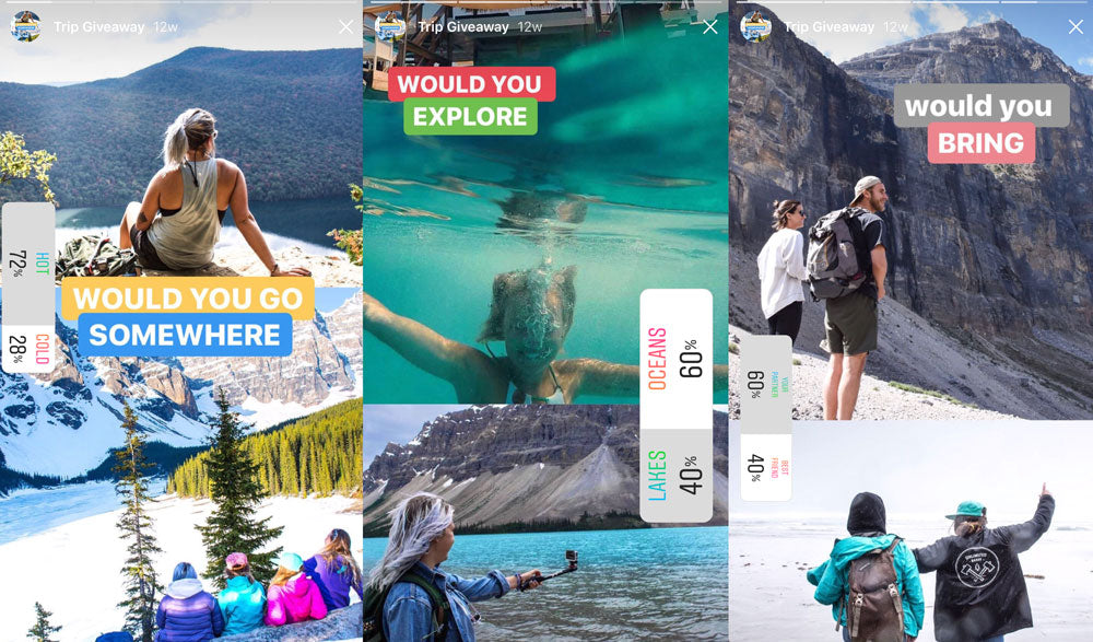 Use Instagram story pools to engage with your followers