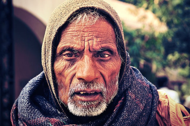 Authentic Portrait of a Man in India