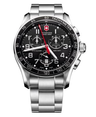 Victorinox Swiss Army Watch, Men's Chronograph Classic XLS Stainless Steel Bracelet 241443