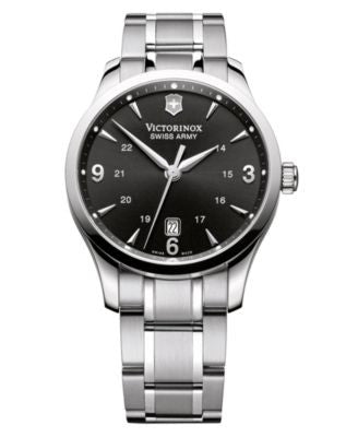 Victorinox Swiss Army Watch, Men's Alliance Stainless Steel Bracelet 241473