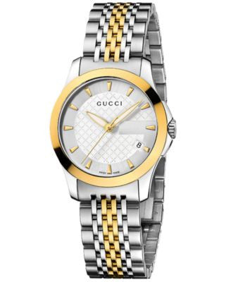 Gucci Watch, Women's Swiss G-Timeless Stainless Steel Bracelet 27mm YA126511