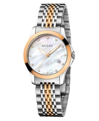 Gucci Watch, Women's Swiss G-Timeless Two Tone Stainless Steel Bracelet 27mm YA126514