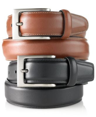 Perry Ellis Men's Big and Tall Full Grain Leather Belt