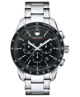 Movado Men's Swiss Chronograph Series 800 Stainless Steel Bracelet Watch 42mm 2600094