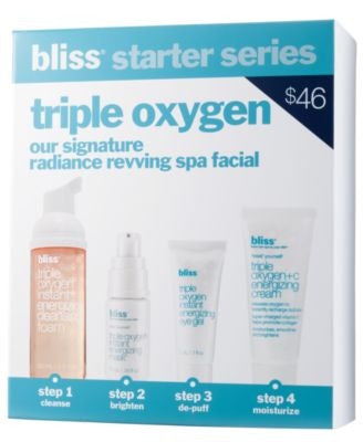 bliss triple oxygen starter kit