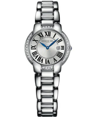 RAYMOND WEIL Watch, Women's Swiss Jasmine Diamond (1/4 ct. t.w.) Stainless Steel Bracelet 5229-STS-0
