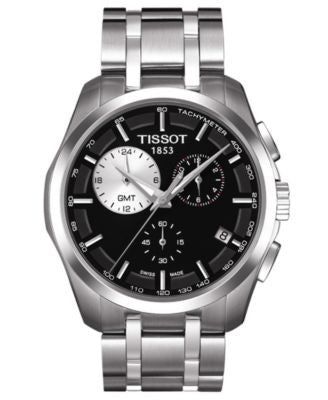 Tissot Watch, Men's Swiss Chronograph Couturier Stainless Steel Bracelet T0354391105100
