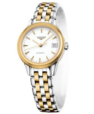Longines Watch, Women's Swiss Automatic Flagship Two Tone Stainless Steel Bracelet L42743227