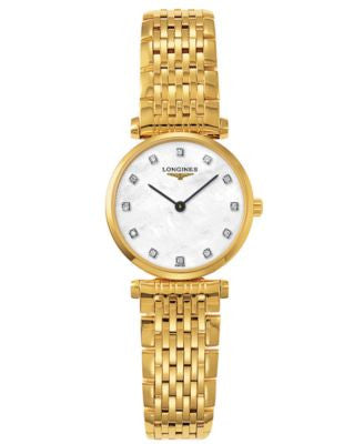 Longines Watch, Women's Swiss La Grande Classique Diamond Accent Gold-Tone Stainless Steel Bracelet