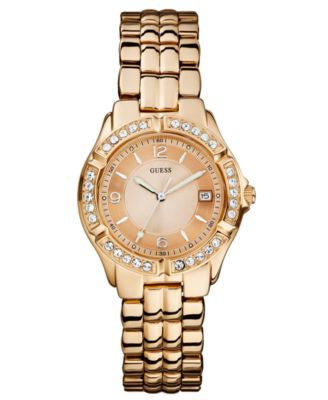 GUESS Watch, Women's Rose Gold-Tone Stainless Steel Bracelet 36mm U11069L1