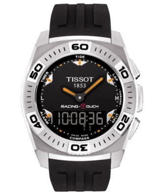 Tissot Watch, Men's Swiss Racing-Touch Black Rubber Strap 46x43mm T0025201705102