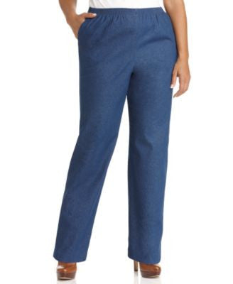 Alfred Dunner Plus Size Denim Pull-On Pants