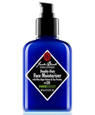 Jack Black Double-Duty Face Moisturizer SPF 20 with Blue Algae Extract & Sea Parsley, 3.3 oz