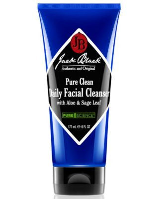 Jack Black Pure Clean Daily Facial Cleanser with Aloe & Sage Leaf, 6 oz