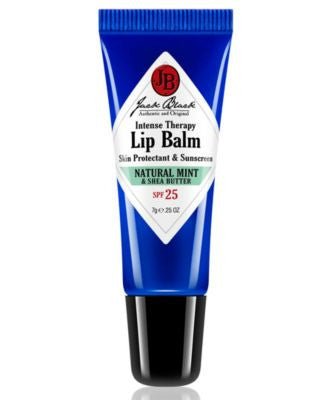 Jack Black Intense Therapy Lip Balm SPF 25 with Natural Mint & Shea Butter, 0.25 oz