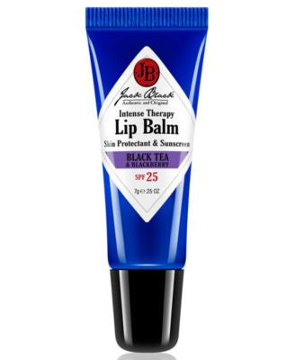 Jack Black Intense Therapy Lip Balm SPF 25 with Black Tea & Blackberry, 0.25 oz