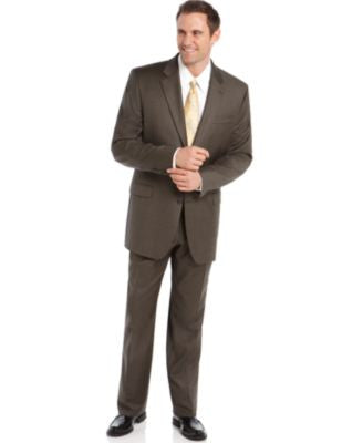 Lauren Ralph Lauren Olive Sharkskin Big and Tall Suit Separates