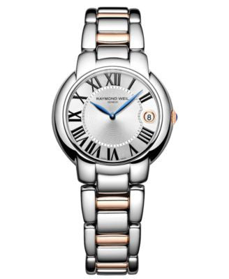 RAYMOND WEIL Watch, Women's Swiss Jasmine Rose Gold Two Tone Stainless Steel Bracelet 35mm 5235-S5-0