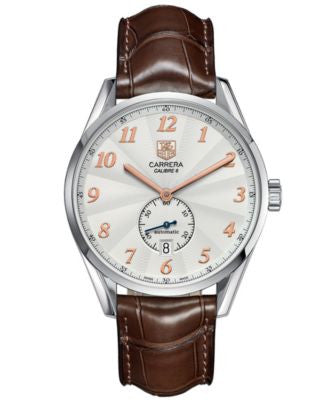 TAG Heuer Men's Swiss Automatic Carrera Calibre 6 Brown Alligator Leather Strap Watch 39mm WAS2112.F