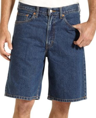 Levi's Men's 550 Relaxed Fit Dark-Stonewash Jean Shorts