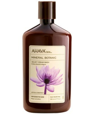 Ahava Mineral Botanic Lotus & Chestnut Velvet Cream Wash, 17 oz