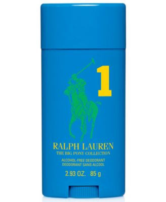 Ralph Lauren Polo Big Pony Blue #1 Alcohol-Free Deodorant, 2.93 oz