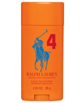 Ralph Lauren Polo Big Pony Orange #4 Alcohol-Free Deodorant, 2.93 oz